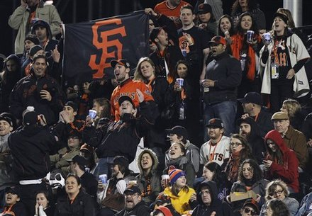 Giants Fans Make Themselves At Home, Dodgers Fans Right Behind Them