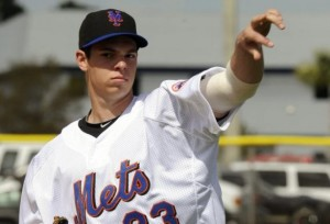 STEVE MATZ: He's throwing hard, and coming hard.