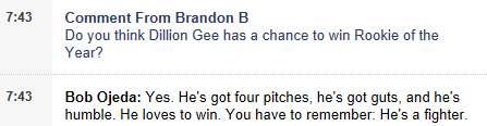 Bobby Ojeda and Kerel Cooper On Gee's Chances To Win Rookie of The Year