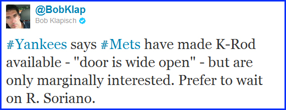 Mets Making K-Rod Available In Trade Talks
