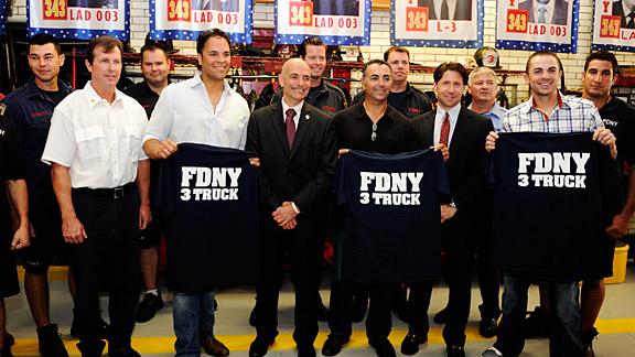 Current, Former Mets Visit FDNY Ladder 3, Squad 288-Haz Mat