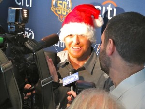 Justin Turner at the Mets Kids' Holiday Party