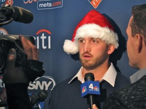Jonathon Niese at the Mets Kids' Holiday Party