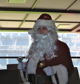 Santa Murphy spread some holiday joy.