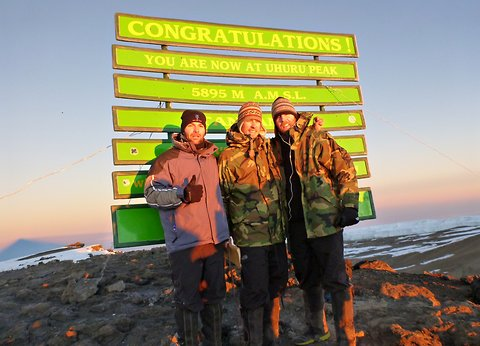 He Did It! Dickey Reaches The Top Of Kilimanjaro!