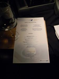 Acela Club menu