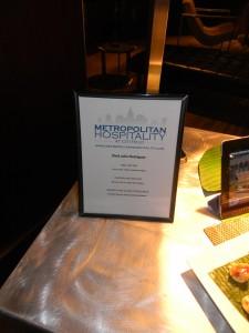 Metropolitan Hospitality Offerings