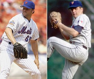 Shawn Estes and Tom Seaver both pitched one-hitters for the Mets.  But I'm sure Seaver would have hit Roger Clemens if he had the chance.