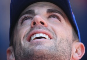 David Wright is looking up here, but his teammates are looking up at him on the leader board.