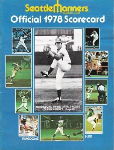 Glenn Abbott Mariners Scorecard