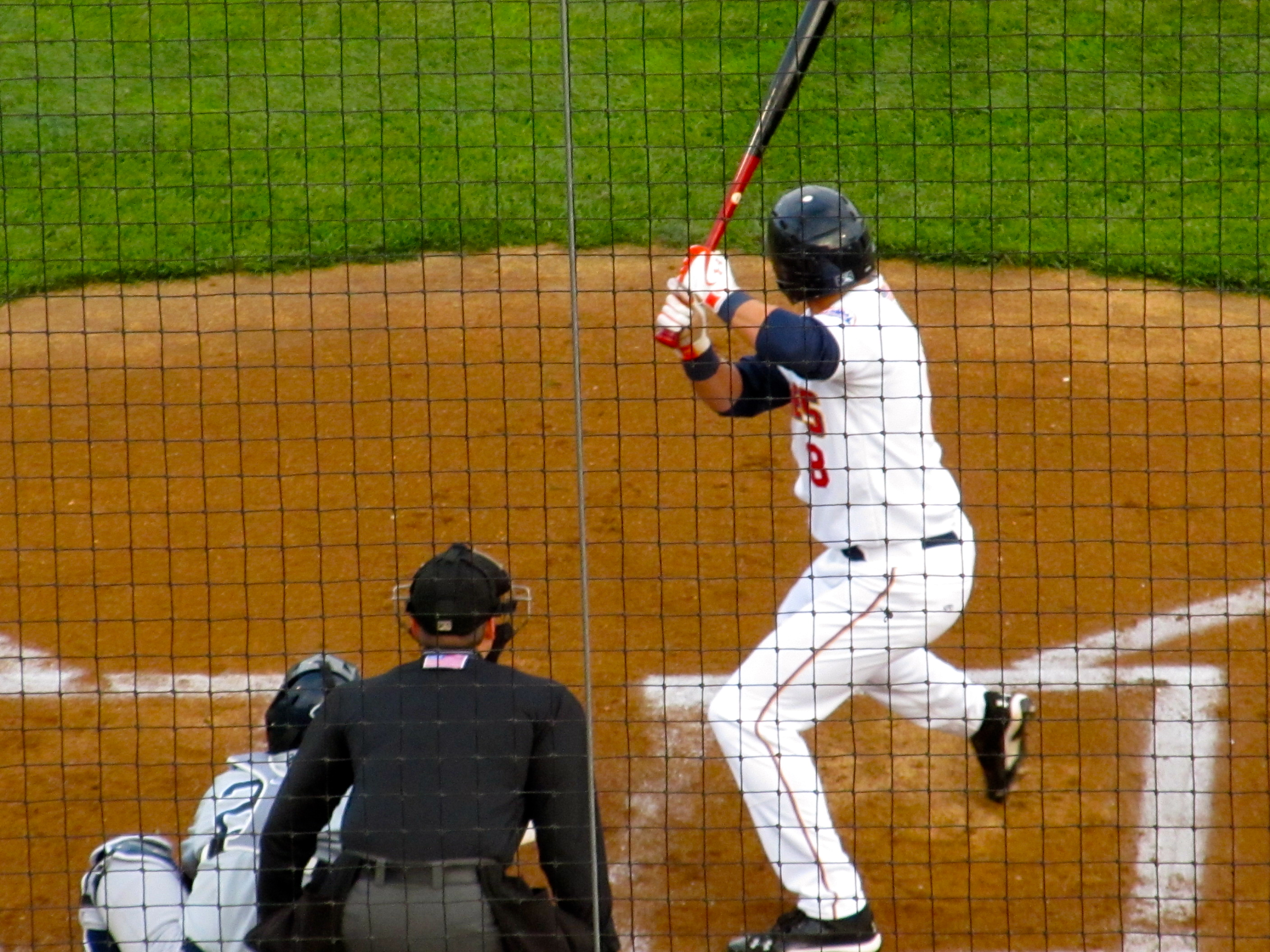 Brandon Nimmo batting (Photo by Jim Mancari)