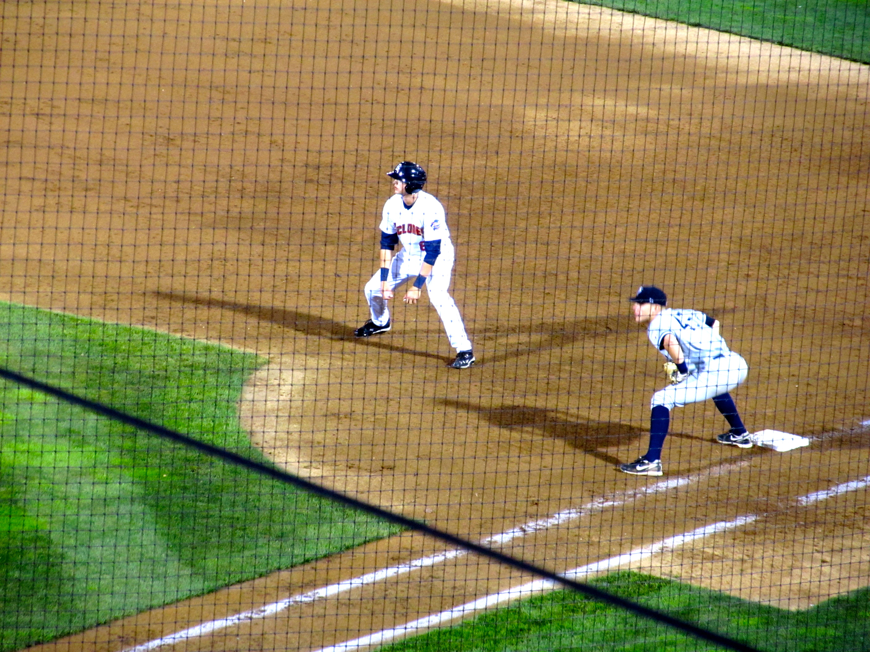 Nimmo leads off first (Photo by Jim Mancari)