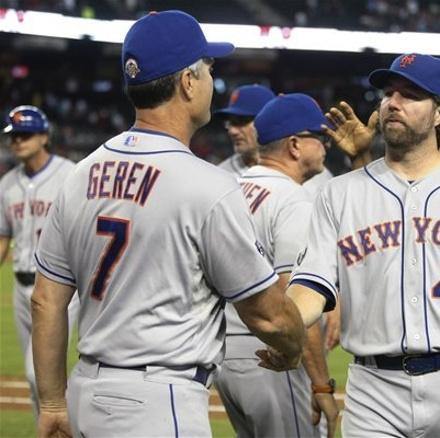 Dickey Wins Number 14 As Amazin's Rout Arizona 5-1