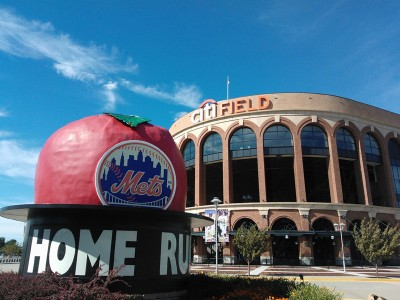 Citi Filed and Homerun Apple Beautiful Citi Field - Photo by Clayton Collier