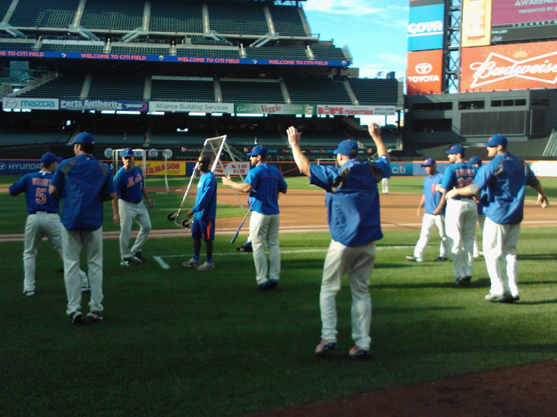 Drills at Citi Field – Photo by Clayton Collier