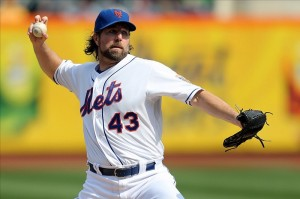 R. A. Dickey goes for 20
