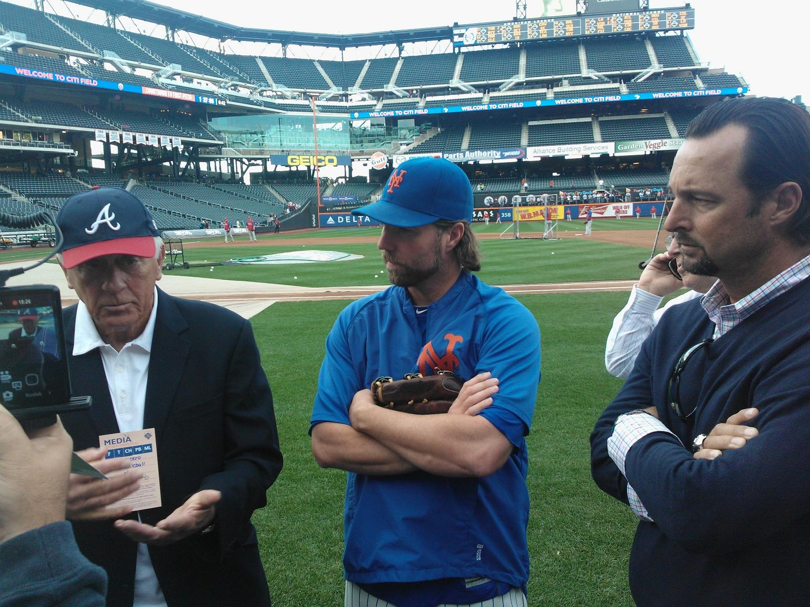 MMO Interview: Phil Niekro, Tim Wakefield Visit R.A. Dickey At Citi Field Last Night