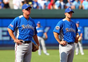 Chipper Jones and David Wright.  One is an all-time great.  The other is just a Mets great.
