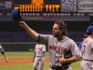 How many pitcher receive a standing ovation after they've just thrown a complete-game one hitter against the home team?