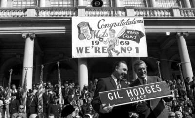 gil hodges place 1969 Mets parade