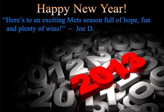 2013 mets new year