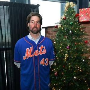 A Marked Man: Dickey at the Mets Holiday Party.