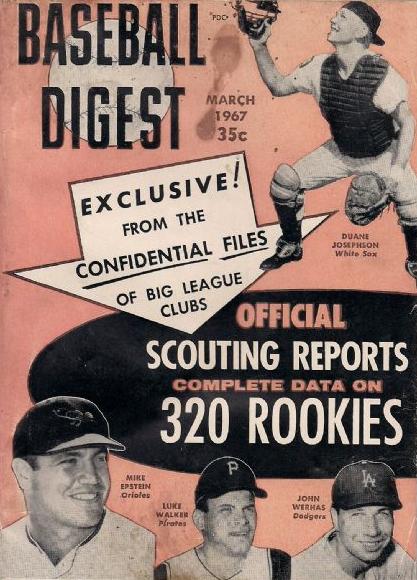 baseball digest 1967