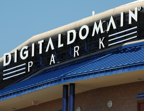 Digital Domain Signs Being Removed From Mets Spring Complex Today