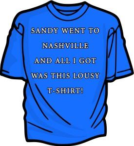 sandy went to nashville