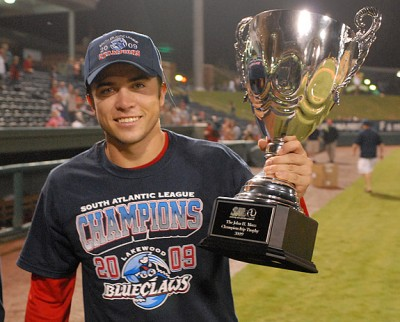 Travis d'Arnaud Lakewood BlueClaws