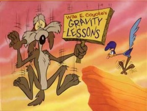 wile e coyote gravity-lessons