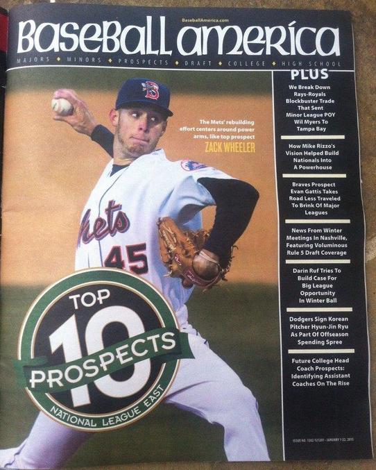 Zack Wheeler On Cover of Baseball America