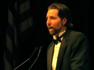 R.A. Dickey at BBWAA Dinner