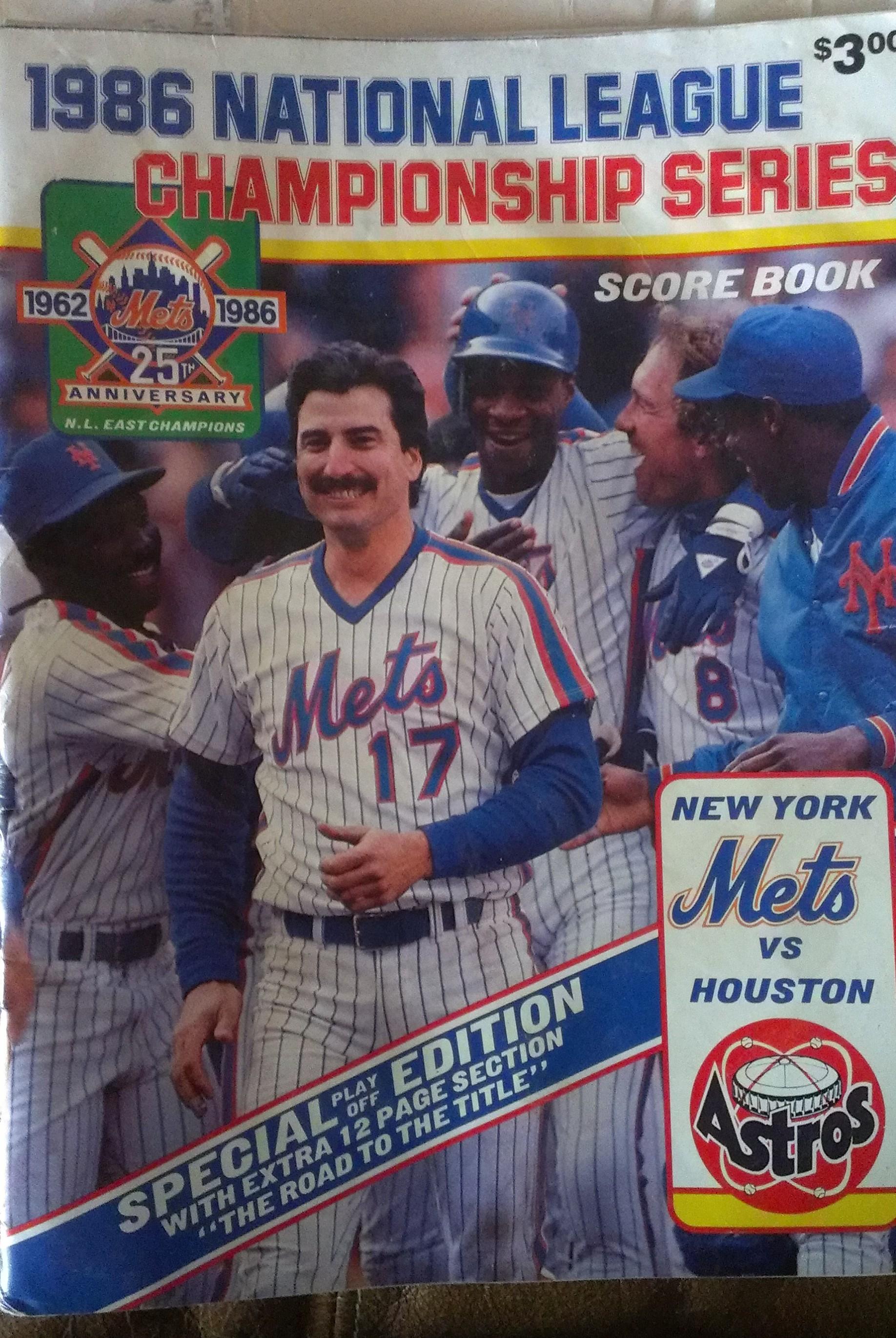 1986 NLCS score book