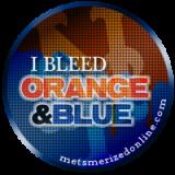 bleed orange & blue  button