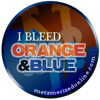 bleed orange & blue  button