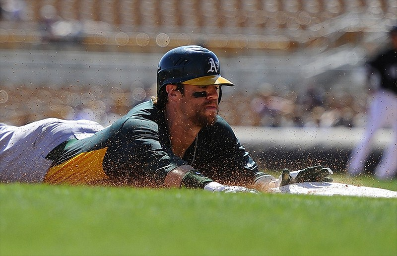 collin cowgill slides A's