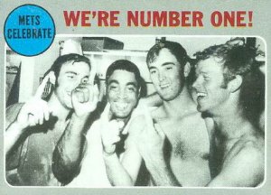 we're number one 1969 mets topps