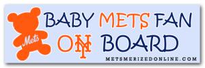 baby mets fan on board bumper