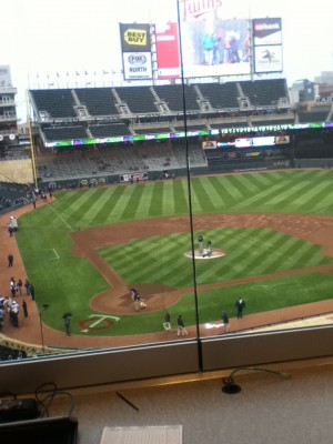 from press box