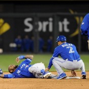 Jose Reyes Carted Off Field In Pain With Ankle Injury