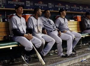 sad yankees bench