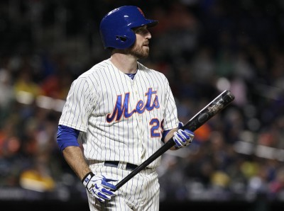 Ike Davis is as confused about the title of this post as he is with a bat in his hands.