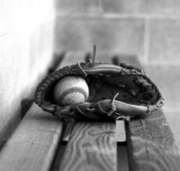 baseball glove bench