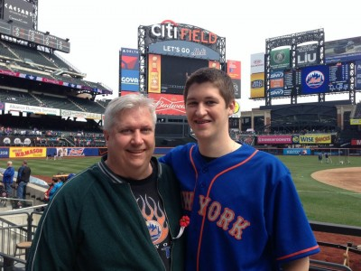 opening day 2013 me and dad