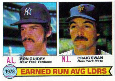 Shoebox Memories: 1978 Topps ERA Leader Craig Swan