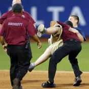 Dumb Yankee Fan Who Ran Onto The Field