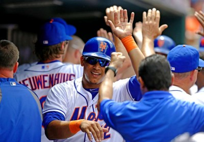 Juan Lagares looks better in blue and orange than Michael Bourn, don't you think?