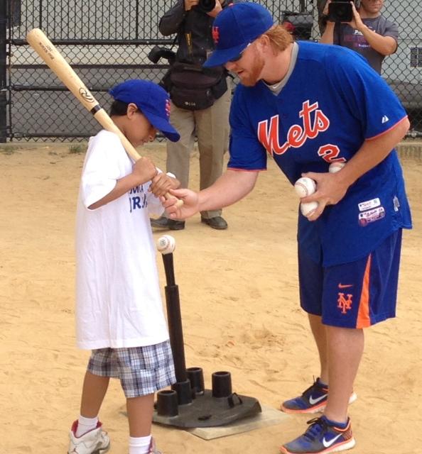 Josh Satin And Justin Turner Host Jr. Mets Camp Program Presented By Citi