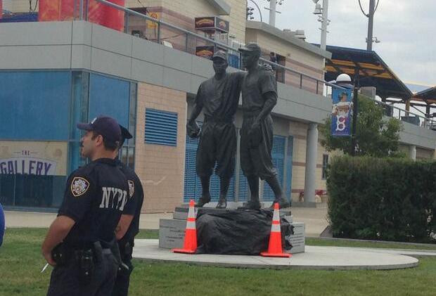 Jackie Robinson, Pee Wee Reese Statue Vandalized At MCU Park